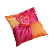 "Lillian Rose™ 7"" Ring Pillow, Hot Pink/Orange"