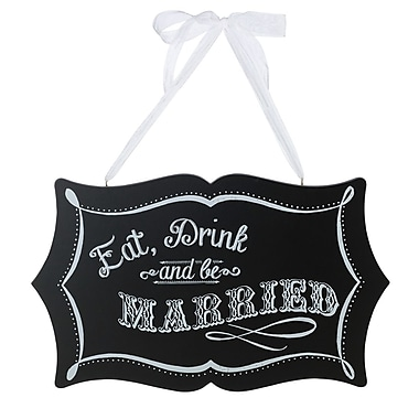 Lillian Rose™ Eat, Drink and Be Married Chalkboard Sign