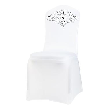 Lillian Rose™ Mrs. Chair Cover, White