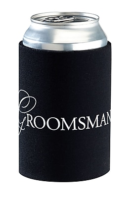 Lillian Rose Groomsman Cup Cozy Black