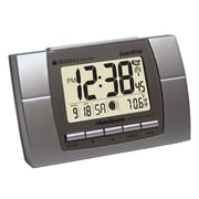 Datexx DRC-604 Digital Radio Control Travel/Table Clock, Silver/Black