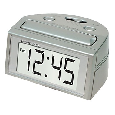 Datexx DF-602 Digital Table Clock, Silver