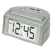 Datexx DF-602 Digital Table Clock, Silver
