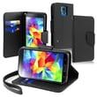 Insten® Folio Case With Card Slot For Samsung Galaxy S5, Black