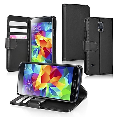 Insten® Stand Folio Case With Card Slot For Samsung Galaxy S5, Black