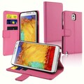Insten® Stand Folio Case With Card Slot For Samsung Galaxy Note 3 N9000, Hot Pink
