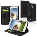 Insten® Stand Wallet Case With Credit Card Slot For Samsung Galaxy S4 i9500, Black