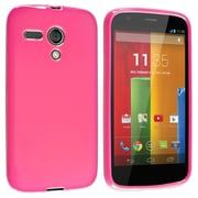 Insten® Protective Durable Case For Motorola Moto G, Hot Pink Jelly