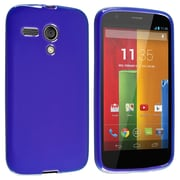 Insten® Protective Durable Case For Motorola Moto G, Blue Jelly
