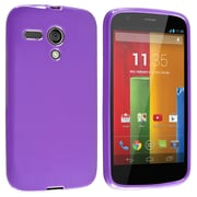 Insten® Protective Durable Case For Motorola Moto G, Purple Jelly