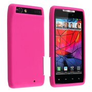 Insten® Skin Case For Motorola Droid RAZR XT910/XT912, Hot Pink