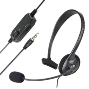 Insten® Over-the-Head Mono Headset With Microphone For Sony PlayStation 4 (PS4), Black