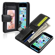 Insten® Wallet Case For iPhone 5C, Black