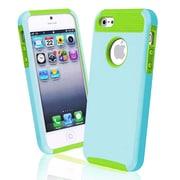 Insten® Hybrid Case For iPhone 5/5S, Green/Light Blue