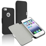 Insten® Snap-In Case With Magnetic Flap For iPhone 5/5S, Black