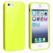 Insten® Skin Case For iPhone 5/5S, Yellow Jelly