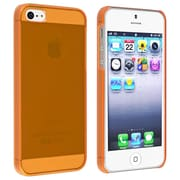 Insten® Snap-In Slim Case For iPhone 5/5S, Clear Orange