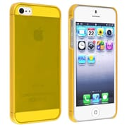 Insten® Snap-In Slim Case For iPhone 5/5S, Clear Yellow