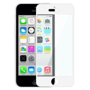 Insten® Colorful Frame Screen Protector For Apple iPhone 5/5S/5C, White