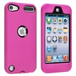 Insten® Hybrid Case For iPod Touch® 5th Gen, Black/Hot Pink