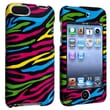 Insten® Snap-In Case For iPod Touch® 2nd/3rd Gen, Black/Colorful Zebra