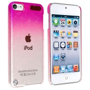 Insten® Snap-In Case For iPod Touch® 5th Gen, Clear Hot Pink Waterdrop