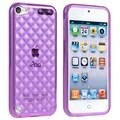 Insten® Case For iPod Touch® 5th Gen, Clear Dark Purple Diamond