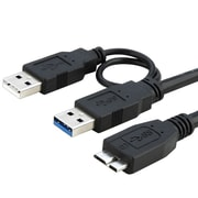 "Insten 21"" USB 3.0 Male to Male Data Transfer Cable, Black"