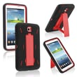 Insten® Hybrid Case With Stand For Samsung Galaxy Tab 3 7.0 P3200, Red/Black