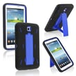 Insten® Hybrid Case With Stand For Samsung Galaxy Tab 3 7.0 P3200, Blue/Black
