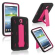 Insten® Hybrid Case With Stand For Samsung Galaxy Tab 3 7.0 P3200, Hot Pink/Black