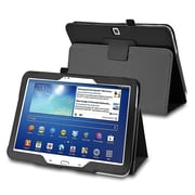 "Insten 1309840 Synthetic Leather Case for 10.1"" Samsung Galaxy Tab 3 Tablet, Black"