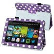 Insten® Stand Case For Amazon Kindle Fire HD 7in. 2013 Edition, Purple/White Polka Dot