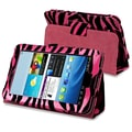 Insten® Stand Case For Samsung Galaxy Tab 2 7.0/P3100/P3110, Hot Pink/Black Zebra