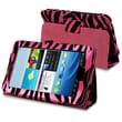 Insten® Stand Case For Samsung Galaxy Tab 2 7.0/P3100/P3110, Hot Pink/Black Zebra