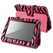 "Insten 901290 Synthetic Leather Stand Case for 7"" Amazon Kindle Fire HD 2012 Tablet, Hot Pink Zebra"