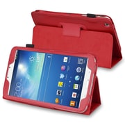 Insten® Stand Folio Case With For Samsung Galaxy Tab 3 8.0, Red