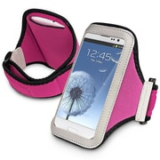 Insten® Sportband For Cell Phone/MP3 Player, Hot Pink