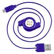 Insten® 4in. Micro USB Retractable Cable, Blue