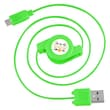 Insten® 4in. Micro USB Retractable Cable, Green