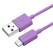 Insten 3' USB 2.0 Male to Male Data Transfer Cable, Purple