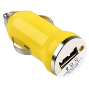 Insten® USB Mini Car Charger Adapter, Yellow