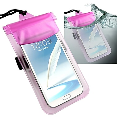 Insten® Waterproof Bag Case For Cell Phone/PDA, Hot Pink/Transparent