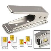 Insten® Nano SIM Card Cutter, Silver