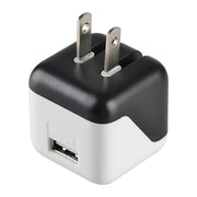 Insten® USB Mini Travel Charger Adapter, Black/ White