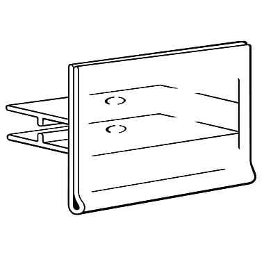 FFR Merchandising® Data Strip® Label Holder for Scan Hook, 7 Gauge, Clear