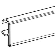 "FFR Merchandising® Data Strip® Label Holder For Double Wire Shelf, 1 1/4"" x 29 1/2"", White"