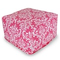 Majestic Home Goods Indoor Poly/Cotton Twill French Quarter Large Ottoman, Hot Pink/White
