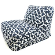 Majestic Home Goods Indoor Links Cotton Duck/Twill Bean Bag Chair Lounger, Navy Blue