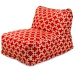 Majestic Home Goods Indoor Links Cotton Duck/Twill Bean Bag Chair Lounger, Red